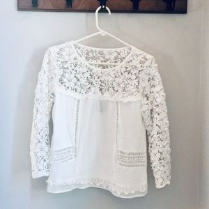 Anthropologie Guest Editor Lace Top